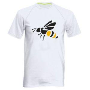 Men's sports t-shirt Bee in flight - PrintSalon