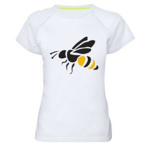 Women's sports t-shirt Bee in flight - PrintSalon