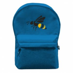Backpack with front pocket Bee in flight - PrintSalon