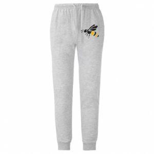Męskie spodnie lekkie Bee in flight - PrintSalon
