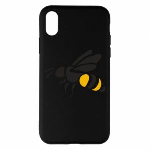 Phone case for iPhone X/Xs Bee in flight - PrintSalon