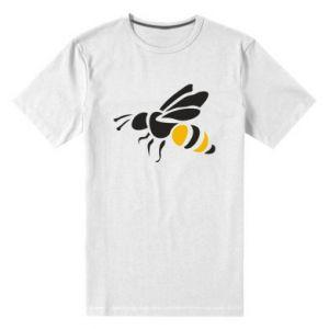 Men's premium t-shirt Bee in flight - PrintSalon