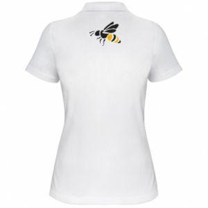 Women's Polo shirt Bee in flight - PrintSalon