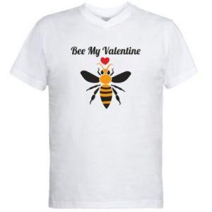 Męska koszulka V-neck Bee my Valentine