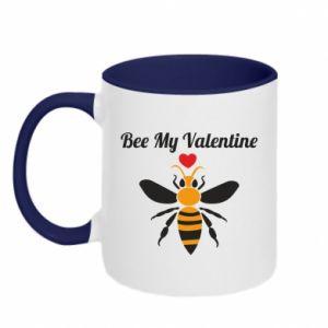 Two-toned mug Bee my Valentine