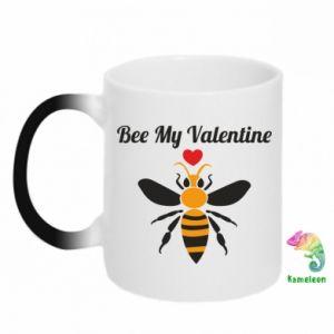 Kubek-kameleon Bee my Valentine
