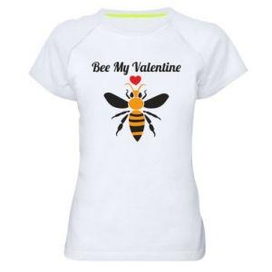 Women's sports t-shirt Bee my Valentine
