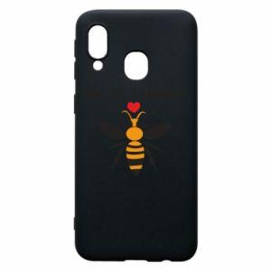 Samsung A40 Case Bee my Valentine