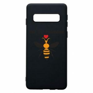 Samsung S10 Case Bee my Valentine