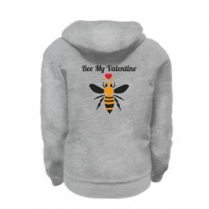 Kid's zipped hoodie % print% Bee my Valentine