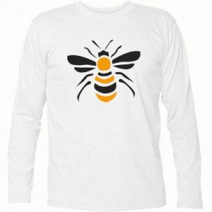 Long Sleeve T-shirt Bee sitting - PrintSalon