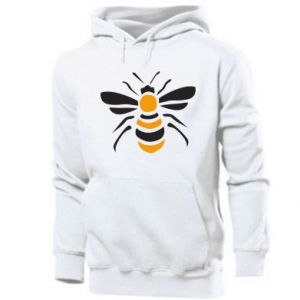 Men's hoodie Bee sitting - PrintSalon