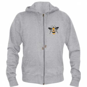 Men's zip up hoodie Bee sitting - PrintSalon