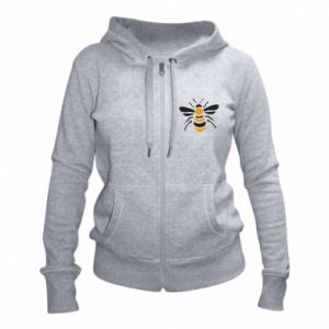 Women's zip up hoodies Bee sitting - PrintSalon