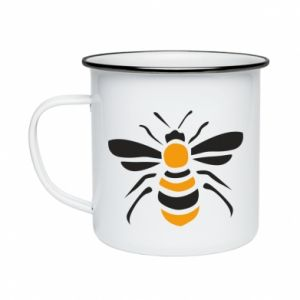 Enameled mug Bee sitting - PrintSalon