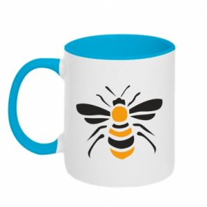 Two-toned mug Bee sitting - PrintSalon