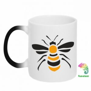 Chameleon mugs Bee sitting - PrintSalon