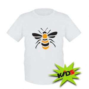 Kids T-shirt Bee sitting - PrintSalon