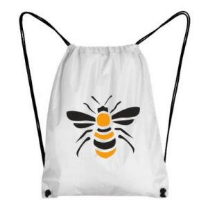 Backpack-bag Bee sitting - PrintSalon