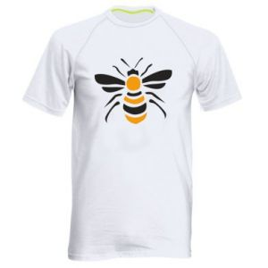 Men's sports t-shirt Bee sitting - PrintSalon