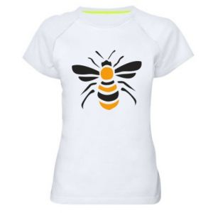Women's sports t-shirt Bee sitting - PrintSalon