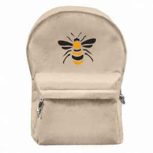 Backpack with front pocket Bee sitting - PrintSalon