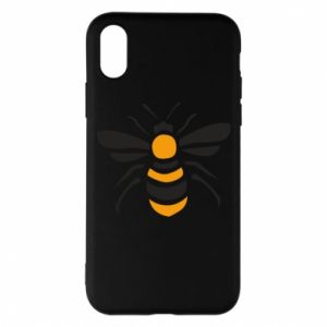 Phone case for iPhone X/Xs Bee sitting - PrintSalon