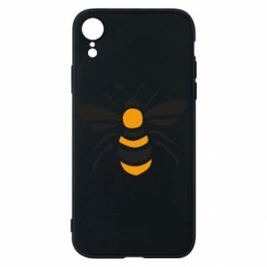 Phone case for iPhone XR Bee sitting - PrintSalon