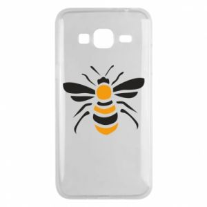 Phone case for Samsung J3 2016 Bee sitting - PrintSalon