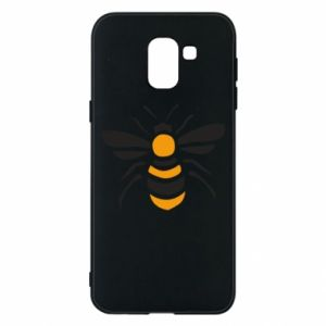 Phone case for Samsung J6 Bee sitting - PrintSalon