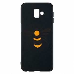 Phone case for Samsung J6 Plus 2018 Bee sitting - PrintSalon