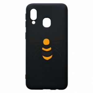 Phone case for Samsung A40 Bee sitting - PrintSalon