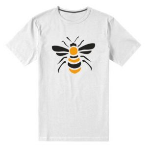 Men's premium t-shirt Bee sitting - PrintSalon