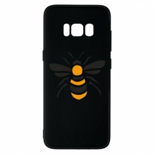 Phone case for Samsung S8 Bee sitting - PrintSalon