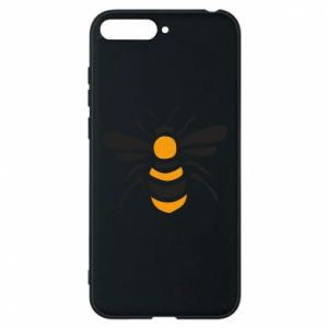 Phone case for Huawei Y6 2018 Bee sitting - PrintSalon