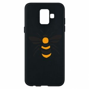 Phone case for Samsung A6 2018 Bee sitting - PrintSalon