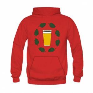 Bluza z kapturem dziecięca Beer and cannabis