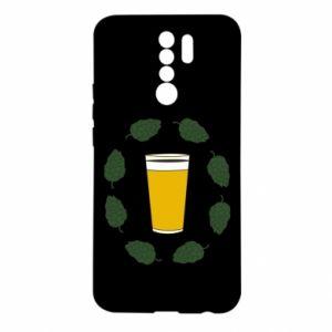 Xiaomi Redmi 9 Case Beer and cannabis