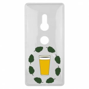 Sony Xperia XZ2 Case Beer and cannabis