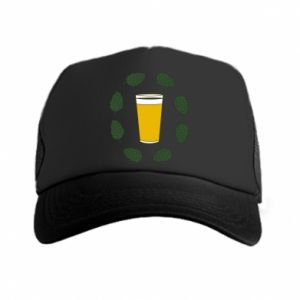 Czapka trucker Beer and cannabis