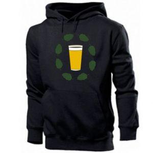 Men's hoodie Beer and cannabis