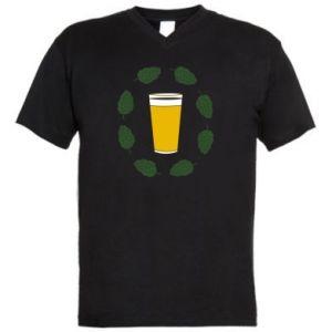Męska koszulka V-neck Beer and cannabis