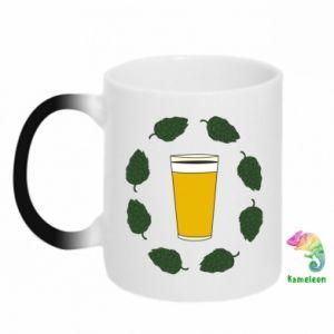 Kubek-kameleon Beer and cannabis