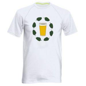 Koszulka sportowa męska Beer and cannabis