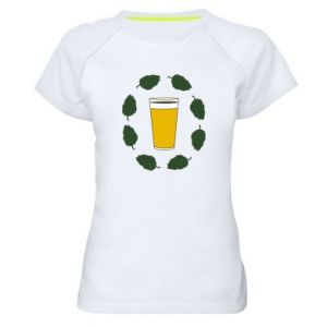 Women's sports t-shirt Beer and cannabis