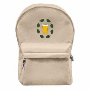 Plecak z przednią kieszenią Beer and cannabis