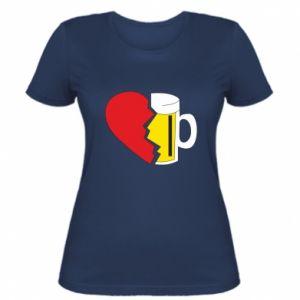 Damska koszulka Beer broke the heart