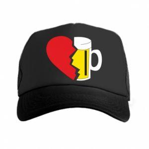 Trucker hat Beer broke the heart