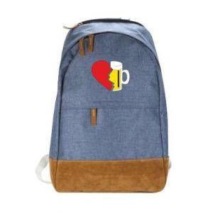 Urban backpack Beer broke the heart