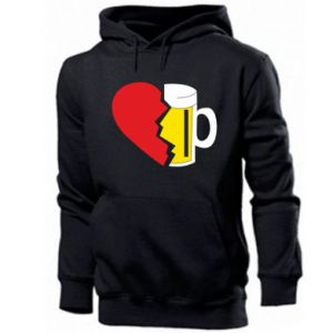 Bluza z kapturem męska Beer broke the heart